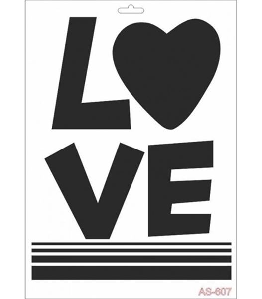 AS607-A4 Stencil LOVE resmi